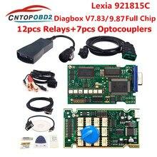Ouro lexia 3 completa chip diagbox v7.83 921815c firmware lexia3 pp2000 v48/v25 para citroen para peugeot obd2 ferramenta de diagnóstico do carro