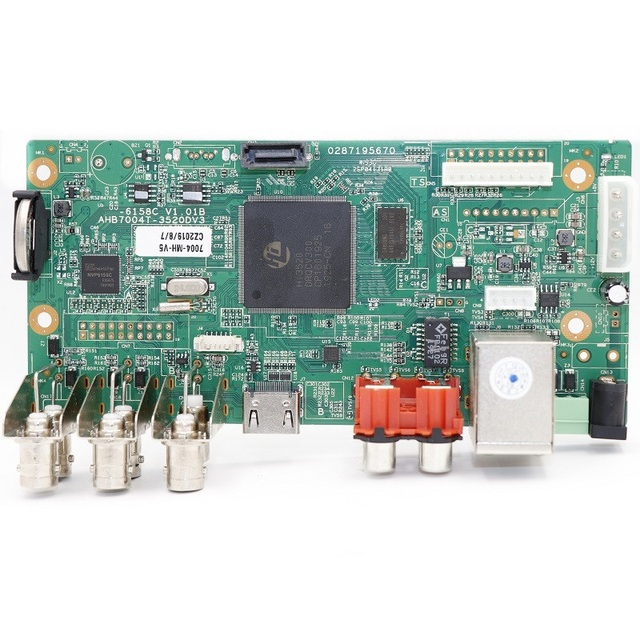 Enregistreur vidéo en réseau de vidéosurveillance H.265, 16 CH 1080P, NVR, 4 canaux, 5.0mp n XVI/AHD/CVI/TVI/CVBS/IP, 6 en 1, carte DVR hybride