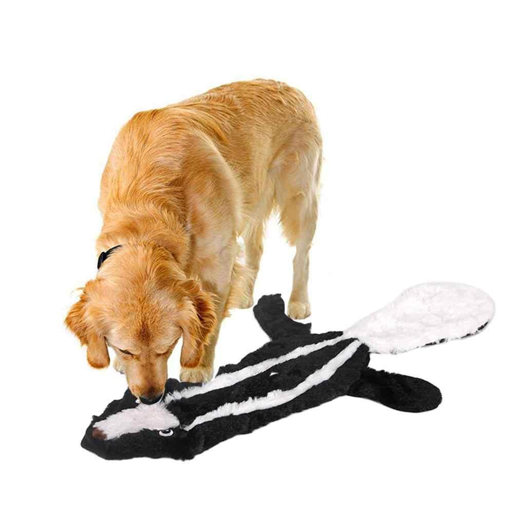 Pet Dog Peluche Educativi Bite-resistente Digrignare i denti Suono Cane Giocattolo Denti Modello Animale Giocattolo
