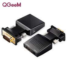 QGeeM VGA to HDMI Converter With Audio Full HD VGA to HDMI adapter wit