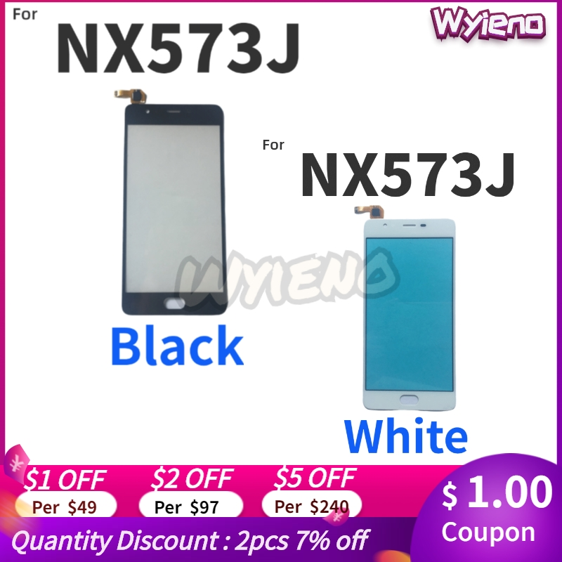 Wyieno Tested Black/White Glass Sensor Screen For ZTE Nubia M2 Lite NX573J Touch Screen Digitizer Front Panel Replacement(China)