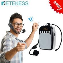 Retekess tr623 мегафон портативный усилитель голоса микрофон