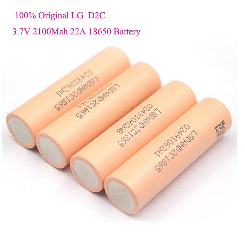 LGHD2C 2100 мАч 22A перезаряжаемая литий ионная аккумуляторная батарея 18650 для электроинструмента LG 18650 аккумулятор|Перезаряжаемые батареи| | АлиЭкспресс
