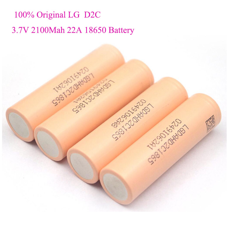 LGHD2C <font><b>2100MAH</b></font> 22A High Discharge Rechargeable Lithium Ion 18650 <font><b>Battery</b></font> for Power Tool <font><b>LG</b></font> 18650 <font><b>Battery</b></font> image