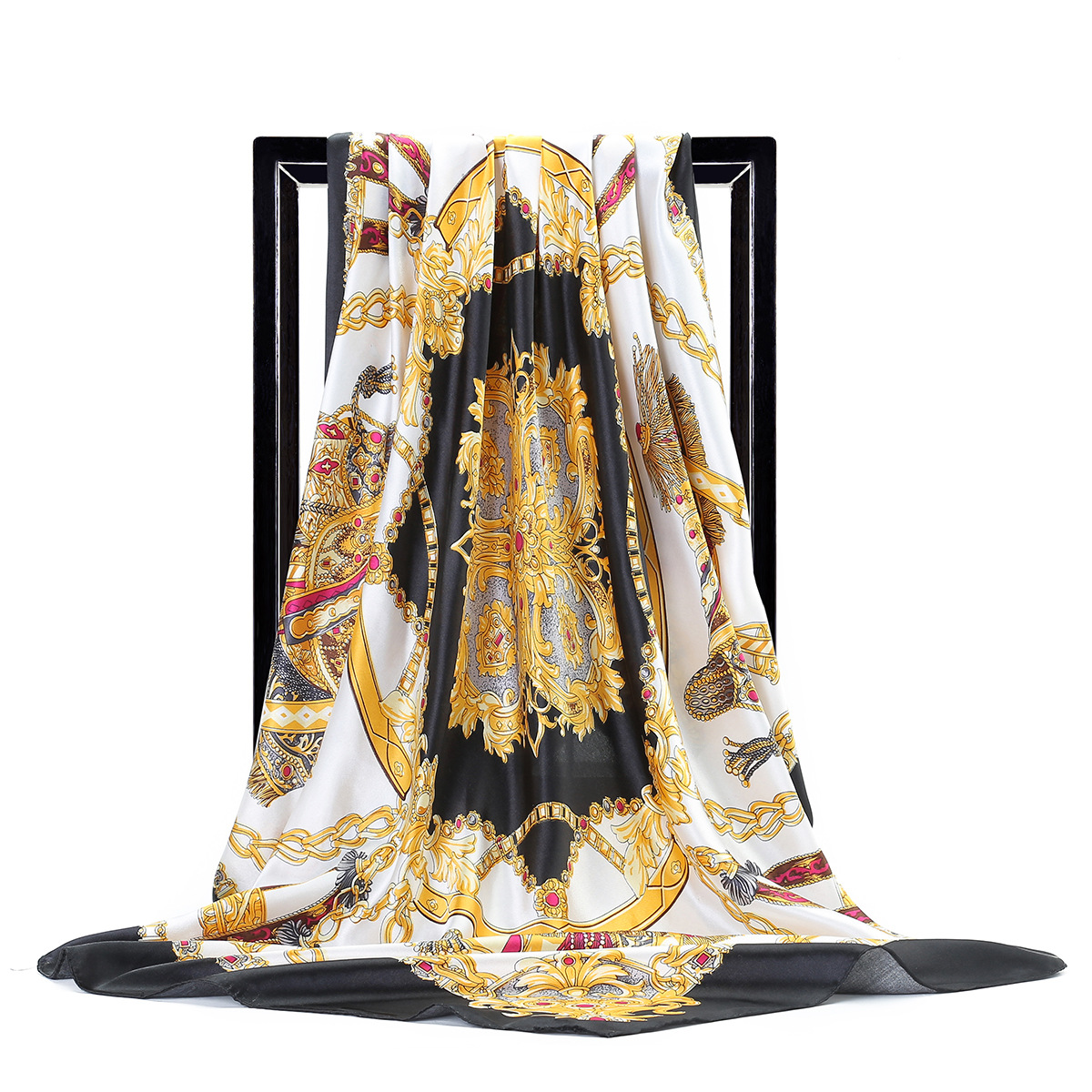 2020 Spring And Autumn Women's Luxury Silk New Printing Silk Scarves Tourism Seaside Large Size Scarf Fashion Sunscreen Shawl