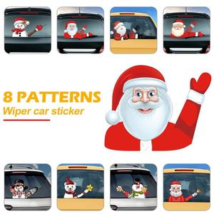 Image 3 - Christmas Car Rear Windshield Wiper Stickers Removable Waterproof Windscreen Window Decals Universal Auto Styling Decoration