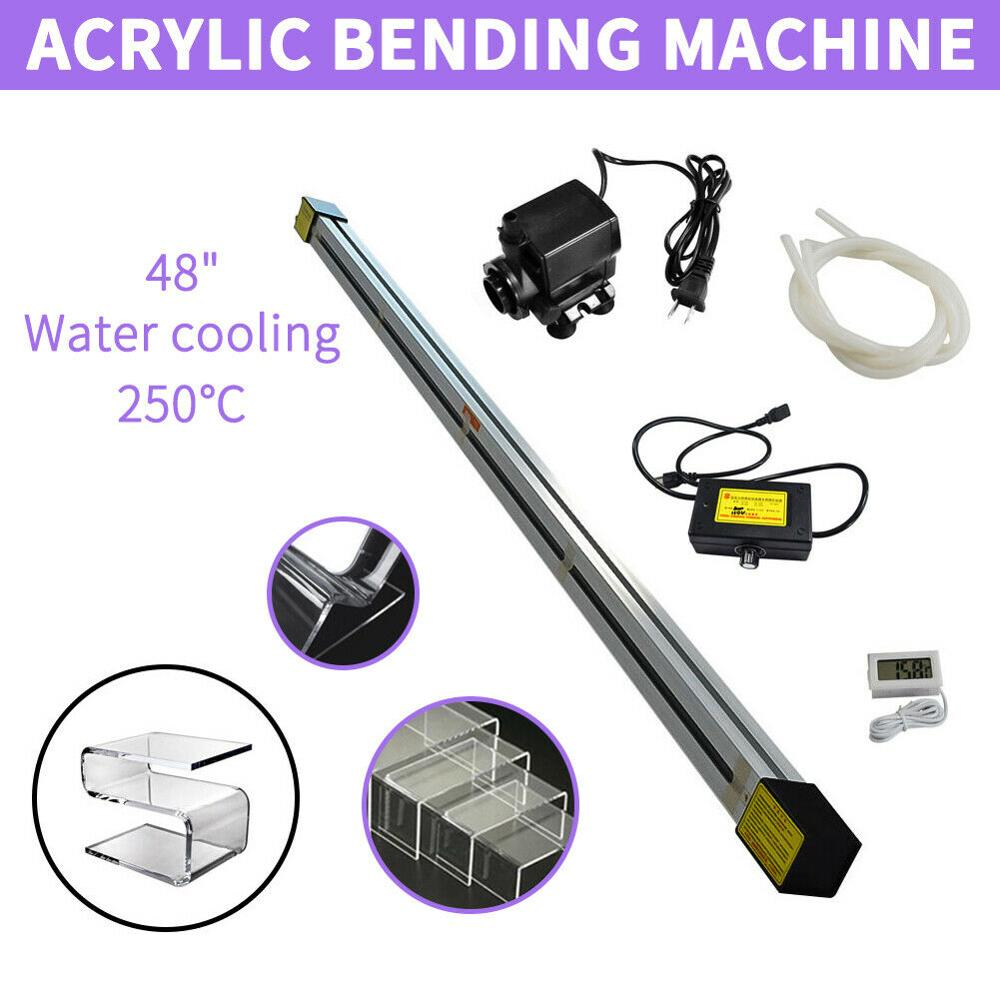 48 1250mm Acrylic Light Box Plastic PVC Bending Machine Heater Bender Water Cooled 1500W 1-6mm image