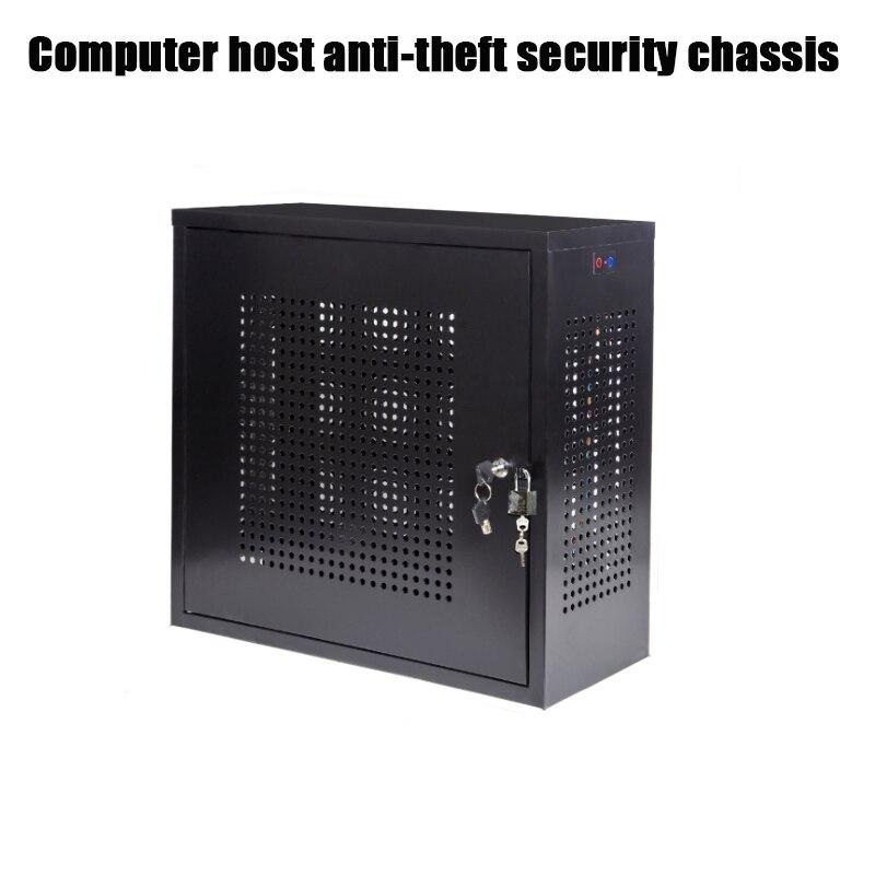Chassi do Computador Host de Segurança do pc Fechadura da Porta Anti-roubo Chassis Desativar Tamanho Padrão Lado Dupla Usb
