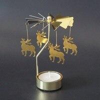 10PCs Gold Candelabra European Golden Candle Holder Rotary Candlestick Holders Gifts Hotel Restaurant Christmas Celebration
