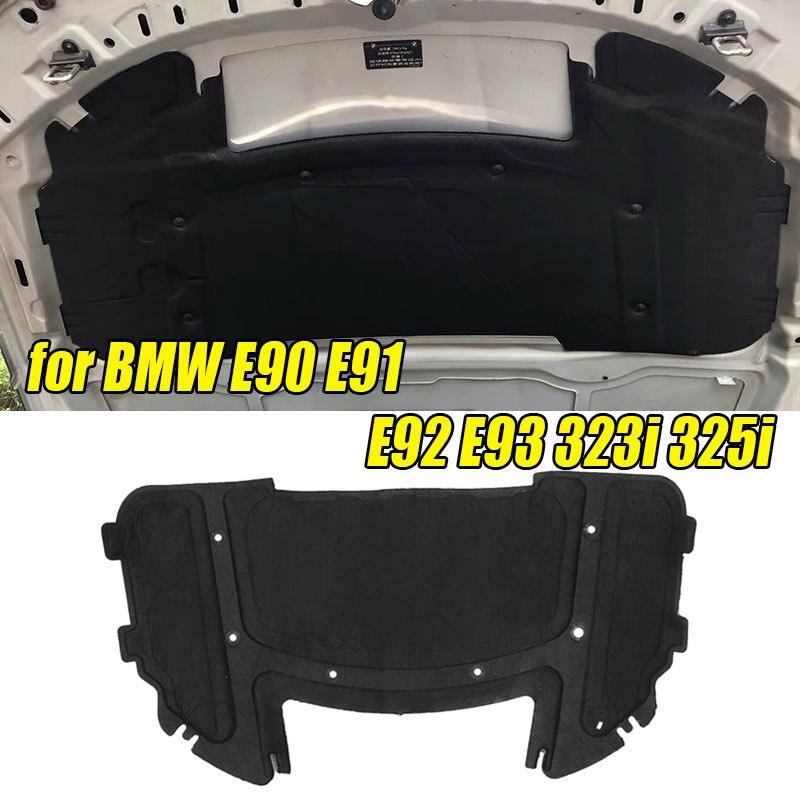 126,5x64,5 см колодка для звукоизоляции автомобильного капота, хлопковая колодка для BMW E90 E91 E92 E93 323i 325i с заклепками, черная 51487059260