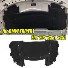 51487059260 preto capô do carro motor almofada de isolamento acústico algodão 126.5x64.5cm para bmw e90 e91 e92 e93 323i 325i com rebite núcleo