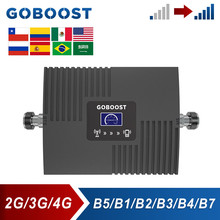 GOBOOST Cellular Amplifier CDMA 2G 3G 850 2100 4G LTE AWS 1700 DCS 1800 PCS 1900 2600 Mhz Signal Booster Mobile Phone Repeater