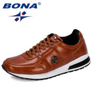 Image 1 - BONA 2020 새로운 디자이너 인기있는 남성 캐주얼 신발 경량 로퍼 신발 남자 야외 레저 신발 Zapatillas Para Hombre