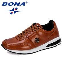 BONA 2020 yeni tasarımcılar popüler erkek rahat ayakkabılar hafif makosen ayakkabı adam açık eğlence ayakkabı Zapatillas Para Hombre