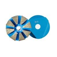GD77 EZ Ändern Quick Lock Boden Schleifen Pads 4 Zoll D100mm Diamant Schleifen Disc Polieren Puck für Beton 9PCS|Schleifscheiben|   -