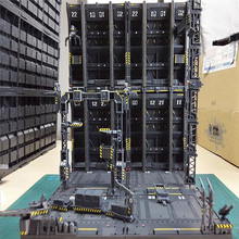 4 stks/set DIY Mechanische Keten Actie Display Base Machine Nest voor 1/100 Gundam Model met Decals