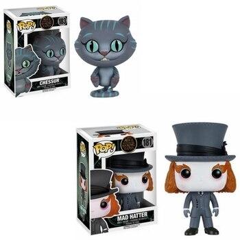 Funko Pop Disney película Alicia en el país de las Maravillas Chessur gato Mad Hatter vinilo modelo de figuras de acción juguetes figurita juguete
