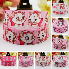 7/8'' (22mm) Marie Cat Cartoon Character printed Grosgrain Ribbon party decoration satin ribbons OEM 10 Yards 7 8 22mm owl cartoon character printed grosgrain ribbon party decoration satin ribbons oem 10 yards