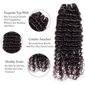 Image 4 - Malaysian Deep Wave Curly Bundles With Closure Human Hair Extensions Malaysian Curly Human Hair 3 Bundles With Closure