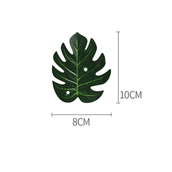 Tropical Green Plants Monstera Large Artificial Tree Leaves Fake Palm Leaf Real Touch Turtle Foliage For Home Wedding Wall Decor image