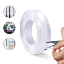 Transparent Magic nano-tape Washable Reusable Double-Sided tape Adhesive Nano Traceless Sticker Removable Universal Disks Glue
