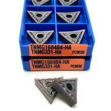 Tnmg160404 tnmg160408 ha pc9030 torneamento externo ferramenta torno de alta qualidade tnmg 1604 torneamento inserir para mtlnr/l ferramenta titular