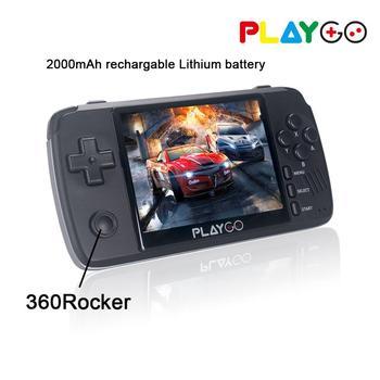 NEUE PLAYGO Emulator Konsole 3,5 inch IPS bildschirm Handheld-Spiel-spieler gebaut in 1000 spiele in 16GB TF karte für GBA PS1 NES