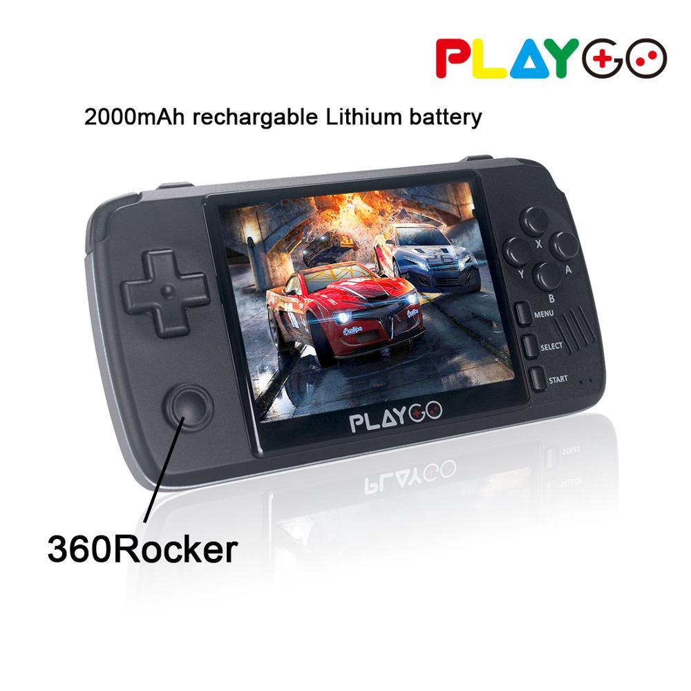 Nueva consola emulador PLAYGO pantalla IPS de 3,5 pulgadas reproductor de juegos portátil integrado en 1000 juegos en tarjeta TF de 16GB para GBA PS1 NES