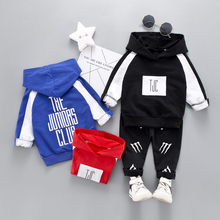 New Autumn Sports Casual Letter Print Childrens Sets Hoodie Pants Two-piece Toddler Cute Boy 0-4T Baby Clothes