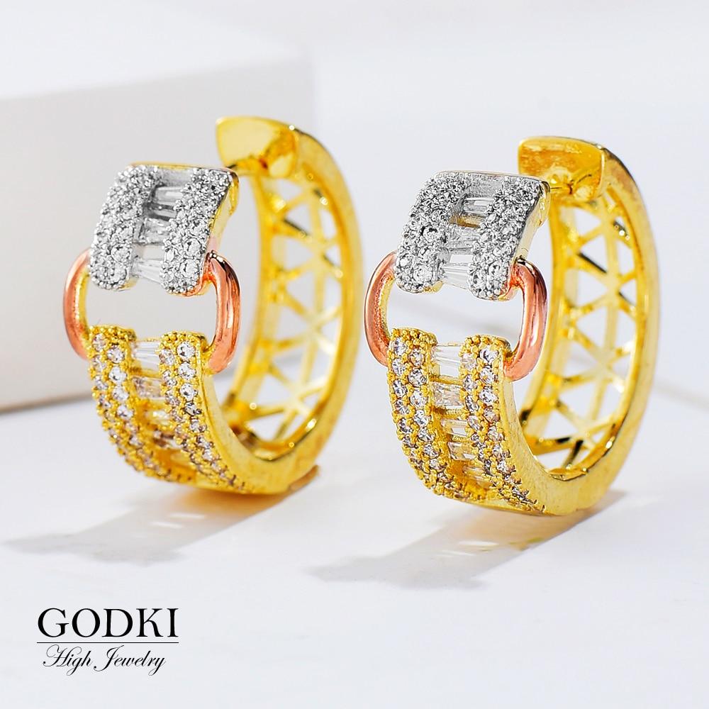 Brincos para o Casamento Brincos de Noiva Godki Moda Única Luxo Tom Cinto Estilo Africano Hoop Feminino Boucle Doreoreille Femme 2020 3