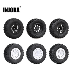 INJORA 4PCS 110*48MM 108*42MM RC Car Rubber Tires Wheel Rim Set for 1/10 Short Course Truck Traxxas Slash VKAR 10SC HPI