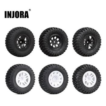 INJORA 4PCS 110*48MM 108*42MM RC Car Rubber Tires Wheel Rim Set for 1/10 Short Course Truck Traxxas Slash VKAR 10SC HPI