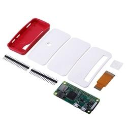 For Raspberry Pi Zero/Zero W Board Kit with 1GHz 512MB RAM Version 1.3 Zero Case GPIO Pin Heatsinks Camera FFC Cable