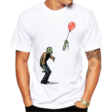 TEEHUB Hot Sales Zombie Men T-Shirt Fashion Bulloon With Baby Zombie Printed t shirts Hipster Tee Short Sleeve Casual Tshirts