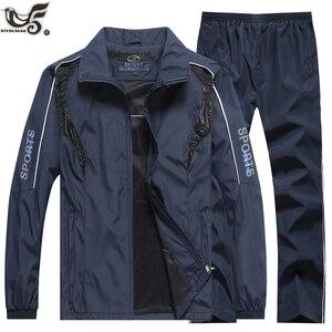 Image 4 - Marka eşofman erkek spor kazak + pantolon 2 adet giyim seti outwearTraining kursu eşofman joggers spor takım elbise erkekler