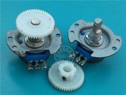 1 unids/lote utilizado para COSMOS RVQ24YNC0305 20F B502 5K potenciómetro con engranaje 25MMX3MM