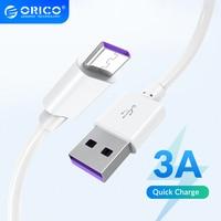 ORICO-Cable de carga rápida 3A USB tipo C QC3.0 para Samsung, Xiaomi, Huawei, Macbook Pro, teléfono móvil y tableta