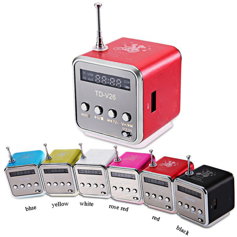 WPAIRE TD-V26 Wireless Speaker Metal TF Card / U Disk Portable Mini Speaker Wireless Audio Universal Type