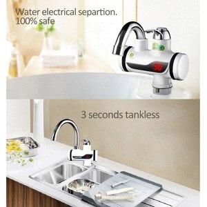 Image 5 - 3000W anında su ısıtıcı vinç sıcaklık ölçer su ısıtıcı elektrikli sıcak su Tankless isıtma banyo mutfak musluk