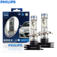 Philips X treme Ultinon LED H4 9003 HB2 12V 12953BWX2 6000K Bright Car LED Headlight Auto HL Beam +200% More Bright (Twin Pack)