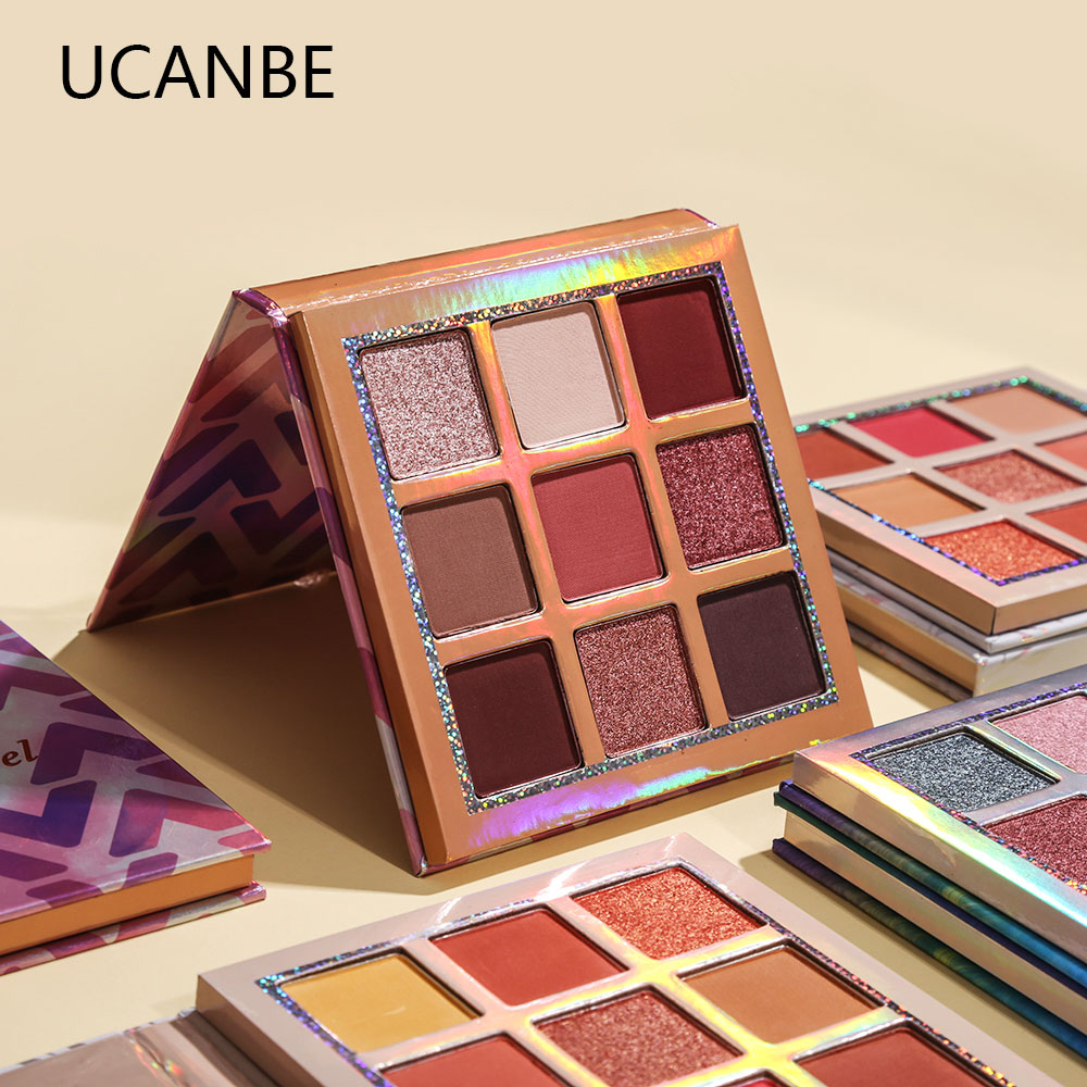 UCANBE 9 Creamy Metallic Duochrome Eyeshadow Palette Highly Pigmented Shimmer Matte Eye Shadow Makeup Sparkle Smooth Eyeshadow
