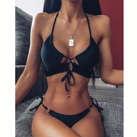 DJ322202-Women Sexy Bikini High Waist Swimsuit