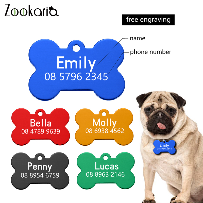 Personalized Anti-lost Dog Collars Dog Name ID Tags Gifts for Dog Pet Collar Tags for Dog Owner Engraved Pet Tag New Puppy Tag