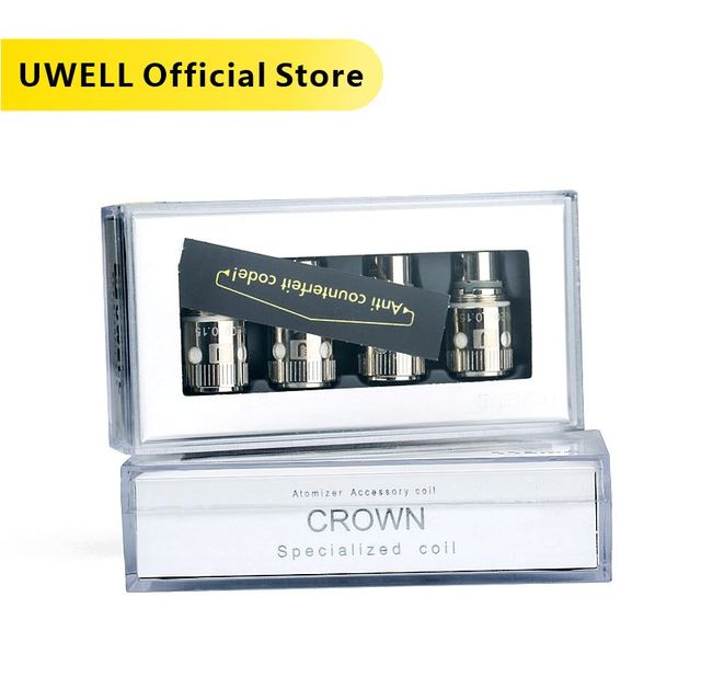 Uwell 4 Stks/pak Crown Ik Coil Vervanging Coils Voor Crown I/Crown I Mini Tank Verstuiver 0.15ohm/0.25ohm/0.5ohm/1.2ohm