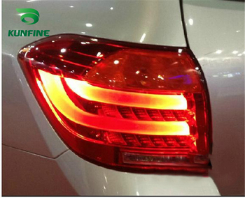 KUNFINE Pair Of Car Tail Light Assembly For TOYOTA HILANDER 2008 2009 2010 2011 Brake Light With Turning Signal Light