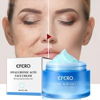 Anti-Oxidation Brighten Face Cream Shrink Pores Hyaluronic Acid Moisturizer Cream Anti Aging Eye Cream Dark Circles Eye Massager 4