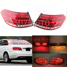 цена на For Mercedes-Benz E Class W212 E350 E300 E250 E63 2014-2016 Sedan Outer side tail light Warning Light Bumper Light Rear brake