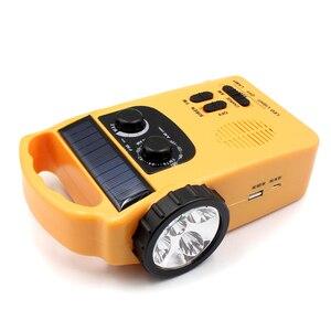 Image 4 - Portable Solar Powered AM/FM Radio with LED Flashlight Electronics Dynamo Automotive Hand Crank Emergency Camping Power Bank
