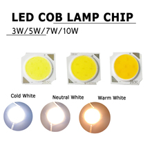 3W 5W 7W 10W LED Chip Cold White DC 9-12V Round Lamp Beads Floodlight Warm/Neutral White Wholesale Super Bright Hight Power
