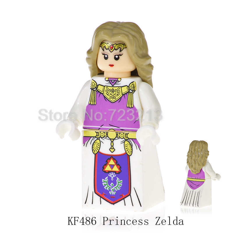 האגדה של דמות סט קריקטורה משחק נסיכת זלדה קישור Hyrule לוחמי אבני בניין מודלים לילדי מתנות